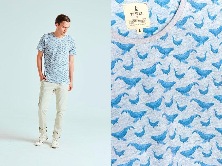 Camiseta Whale Tiwel cultura inquieta taquen