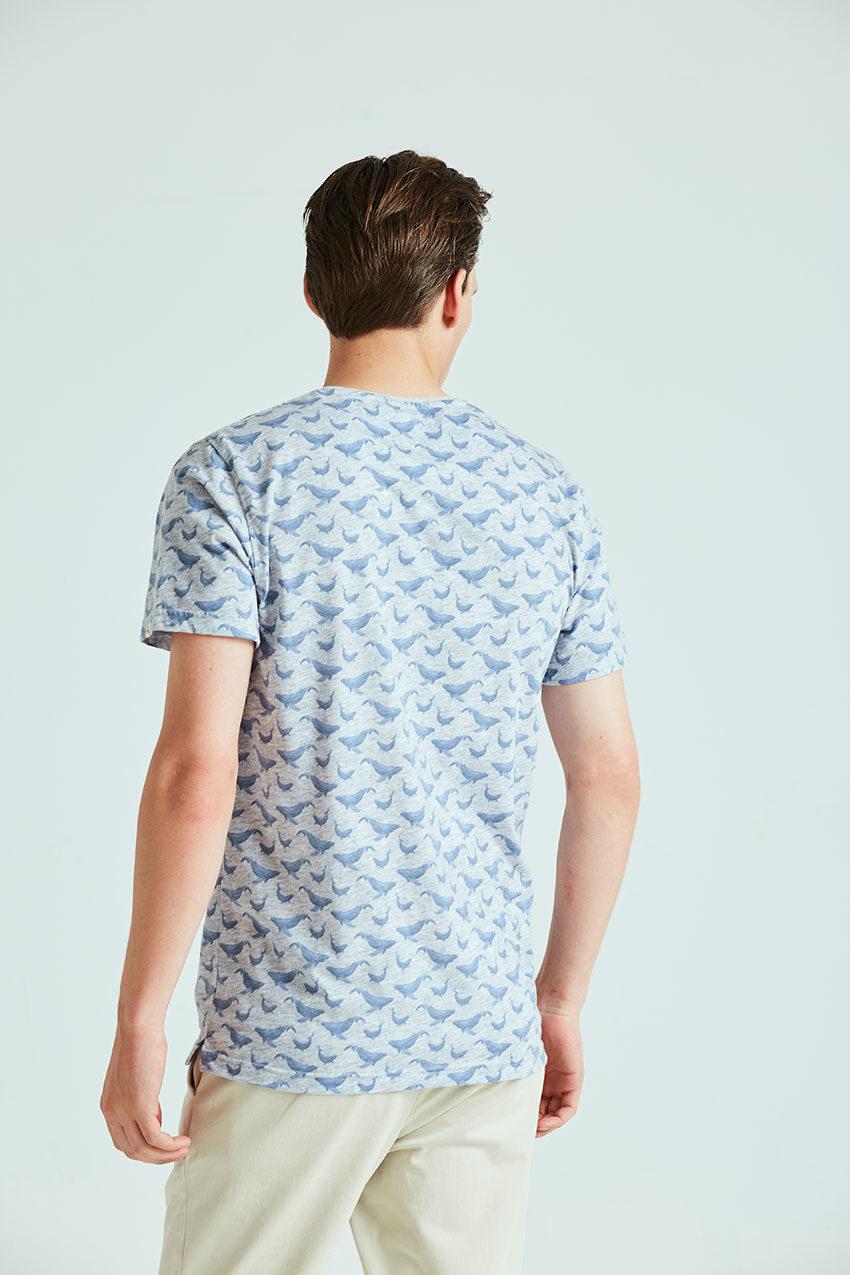 Camiseta Whale Tiwel light grey melange 02