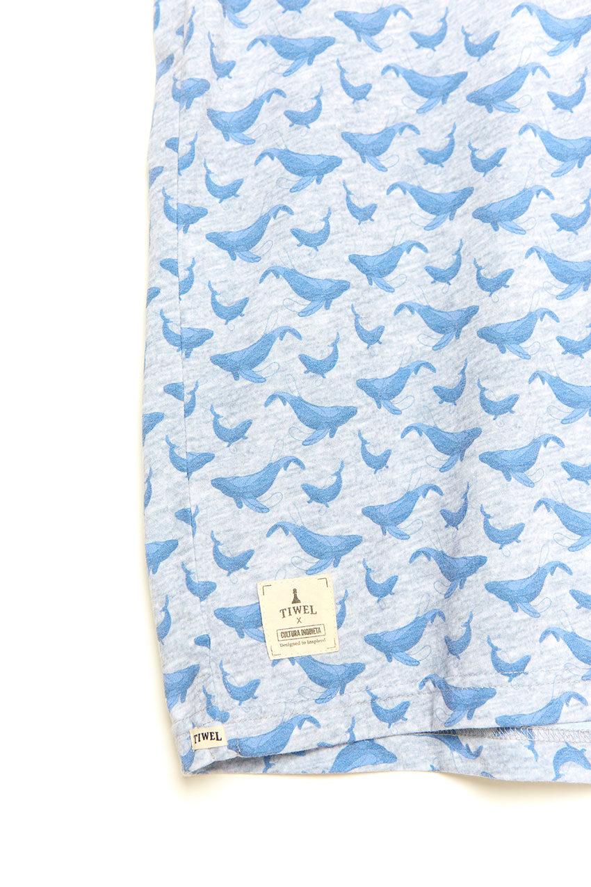 Camiseta Whale Tiwel light grey melange 04