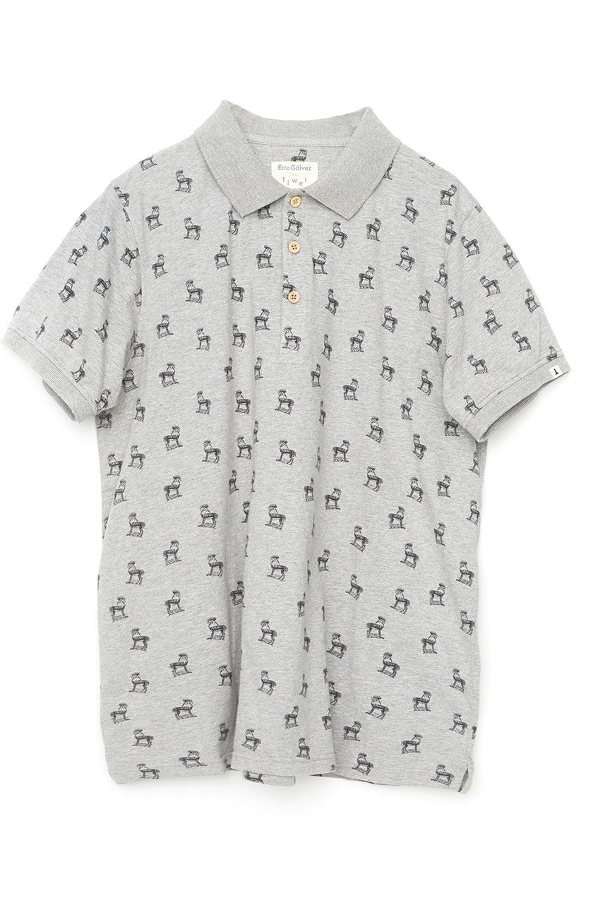 Gazelle-Poloshirt-Tiwel-Light-Grey-Melange