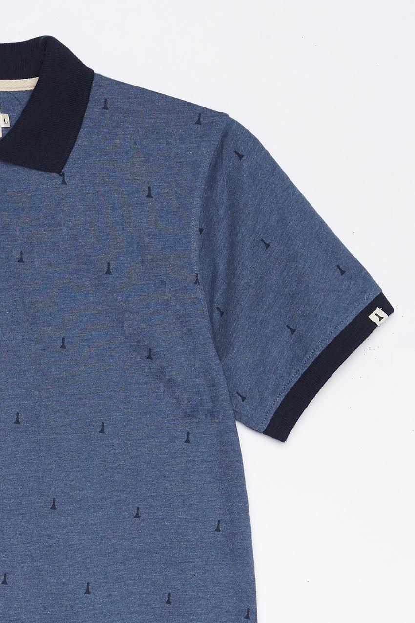 Polo Hube Tiwel dark blue melange 02