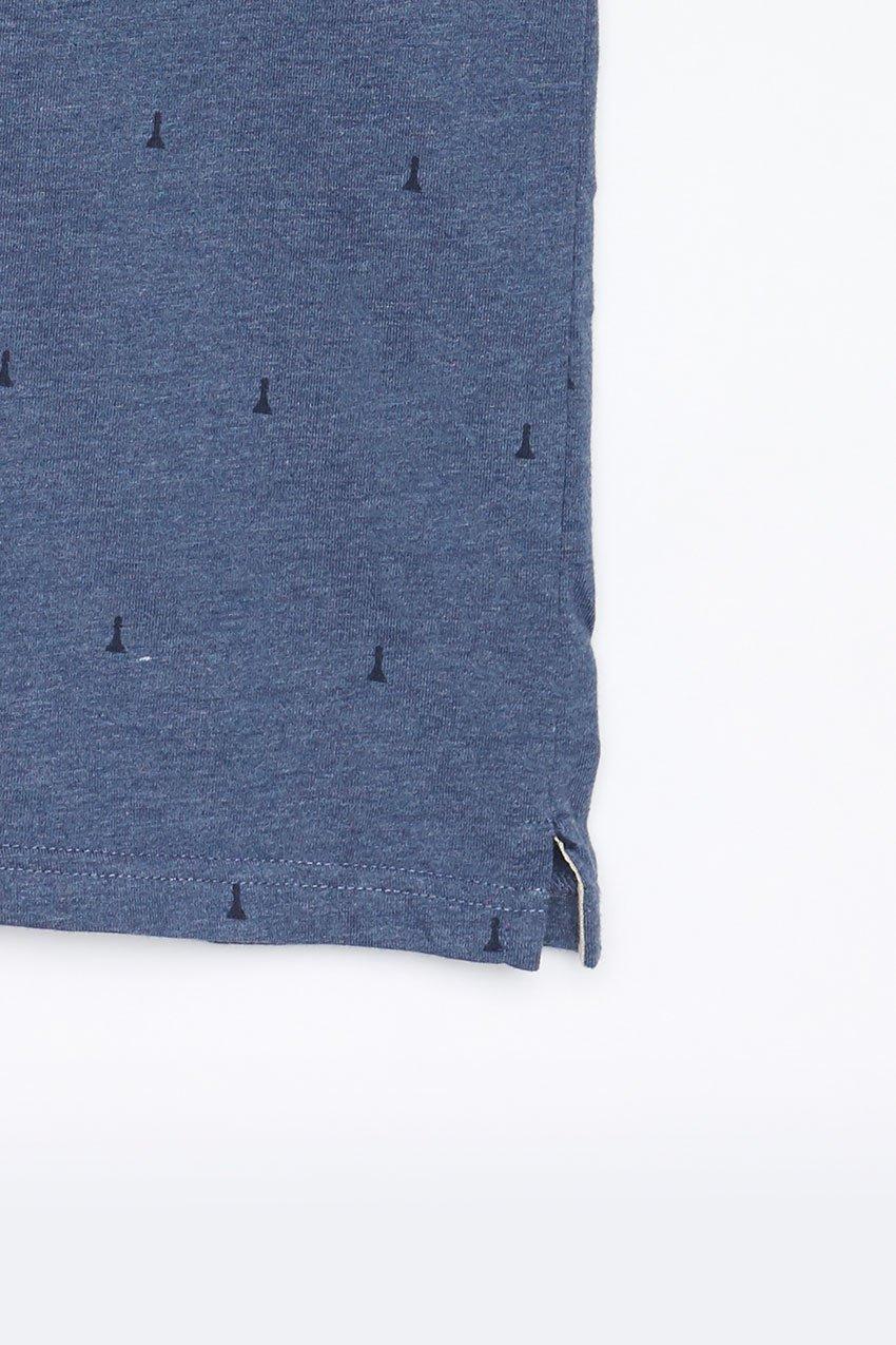 Polo Hube Tiwel dark blue melange 03
