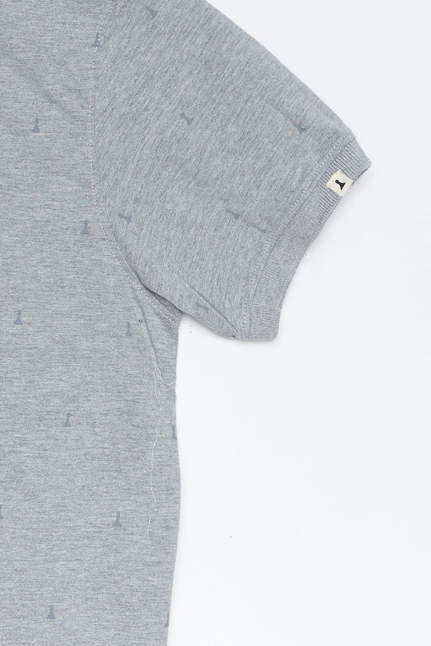 Polo Hube Tiwel dark grey melange 03