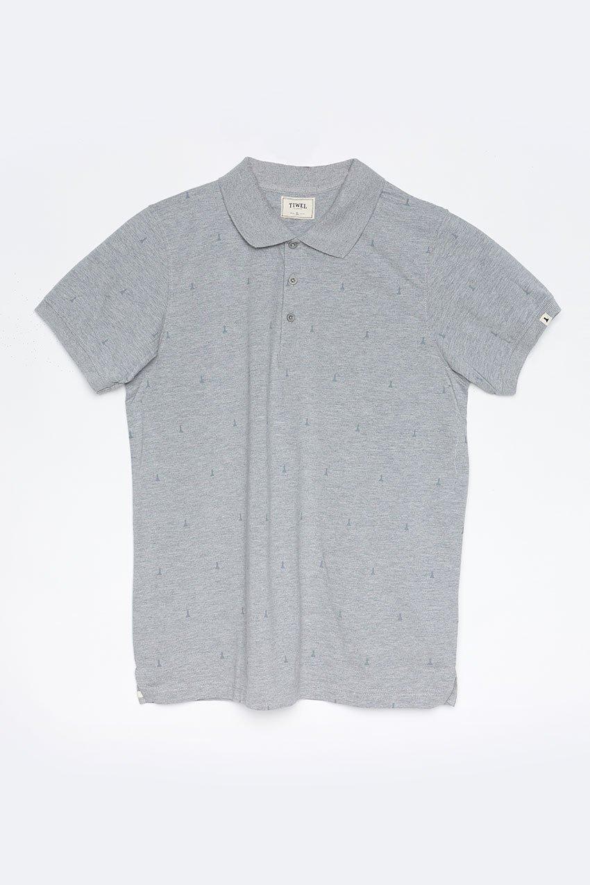 Polo Hube Tiwel dark grey melange