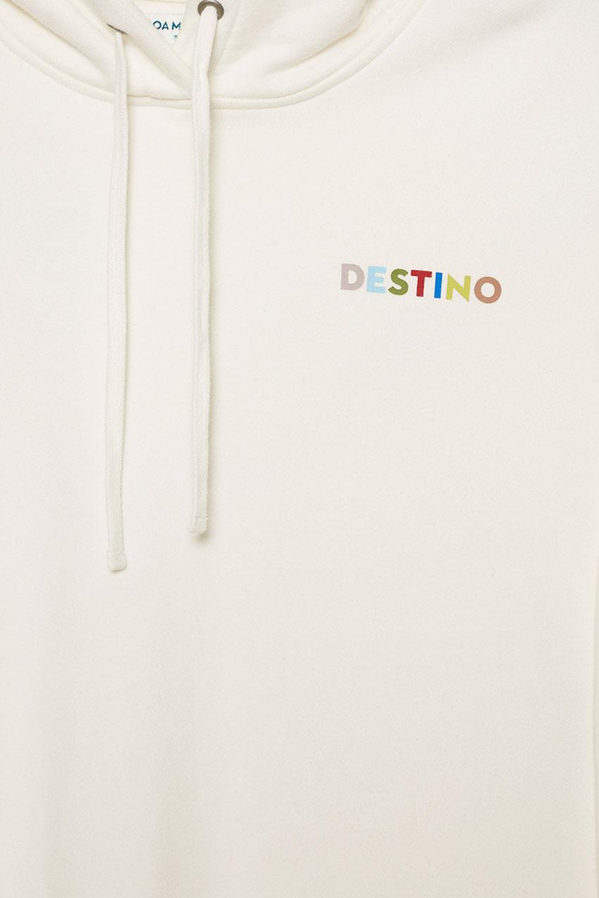Sudadera Destino Boa Mistura Bright White 03