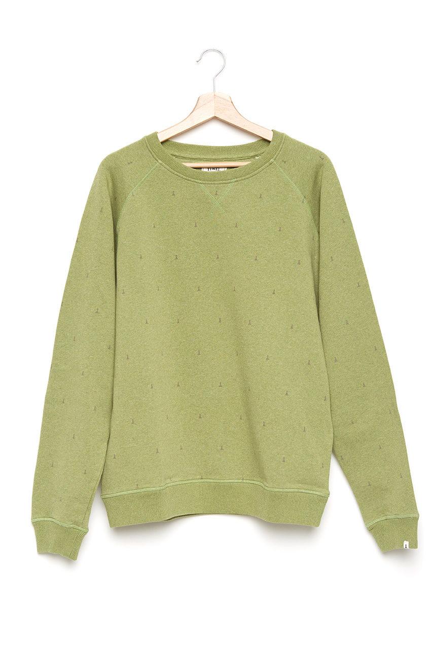 Kubo Sweatshirt Ecopol Green Melange