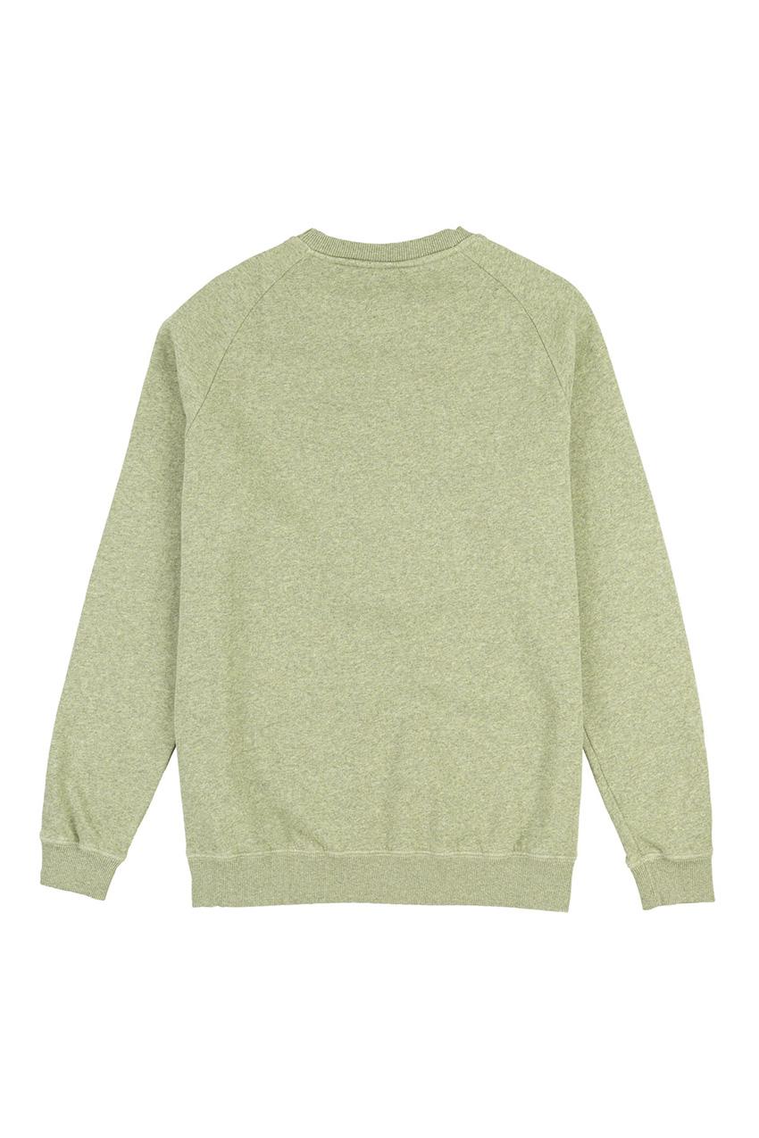 Owl Sweatshirt Ivy Green Melange 02