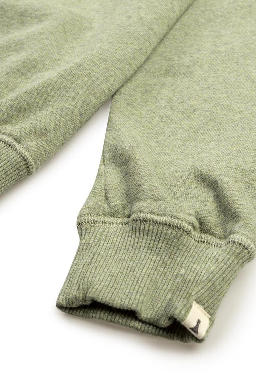Owl Sweatshirt Ivy Green Melange 05