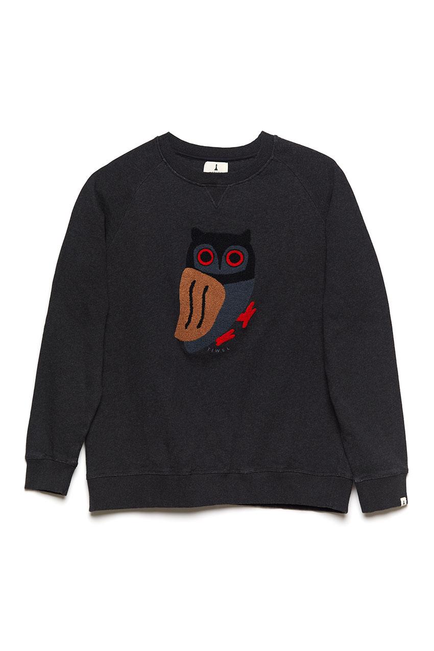 Owl Sweatshirt Pirate Black 01