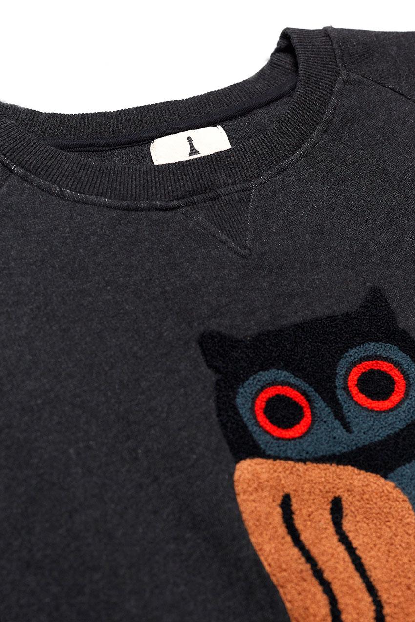 Owl Sweatshirt Pirate Black 02