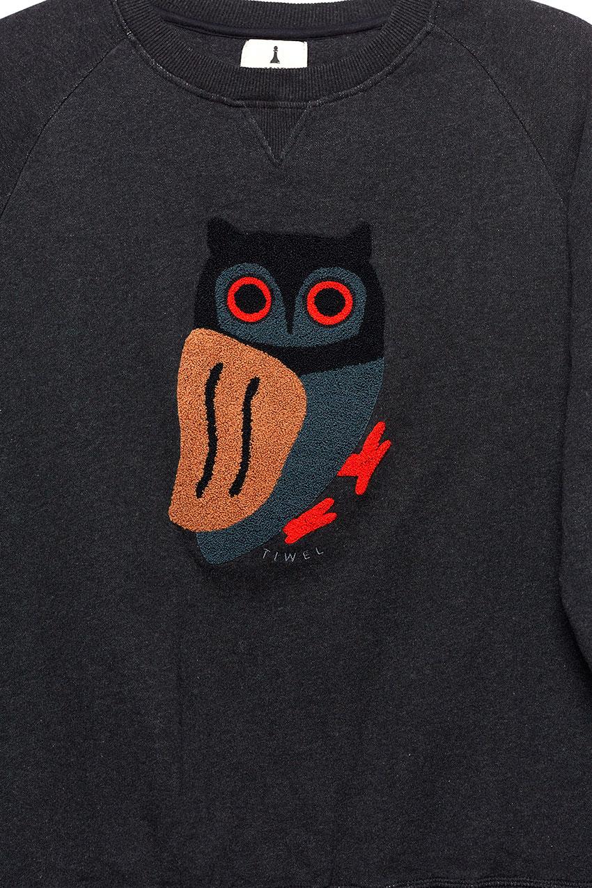 Owl Sweatshirt Pirate Black 03
