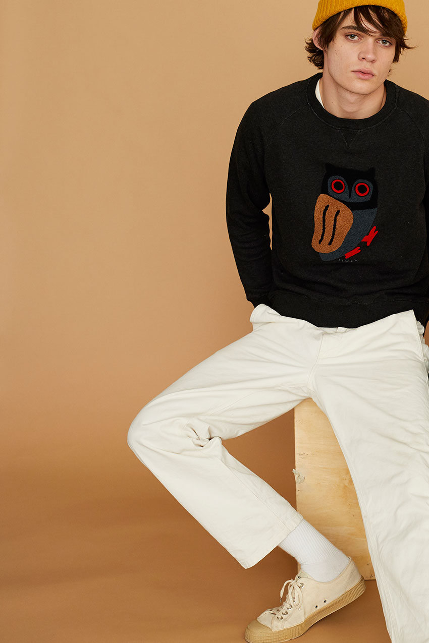 Owl Sweatshirt Pirate Black 09