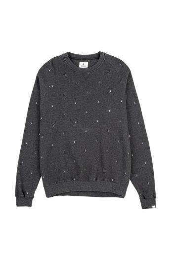 Peones Sweatshirt Faded Black Melange 01