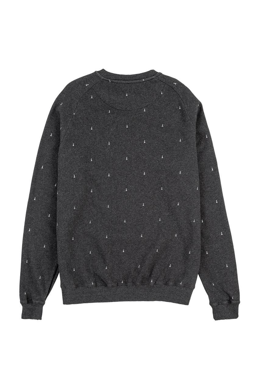 Peones Sweatshirt Faded Black Melange 02