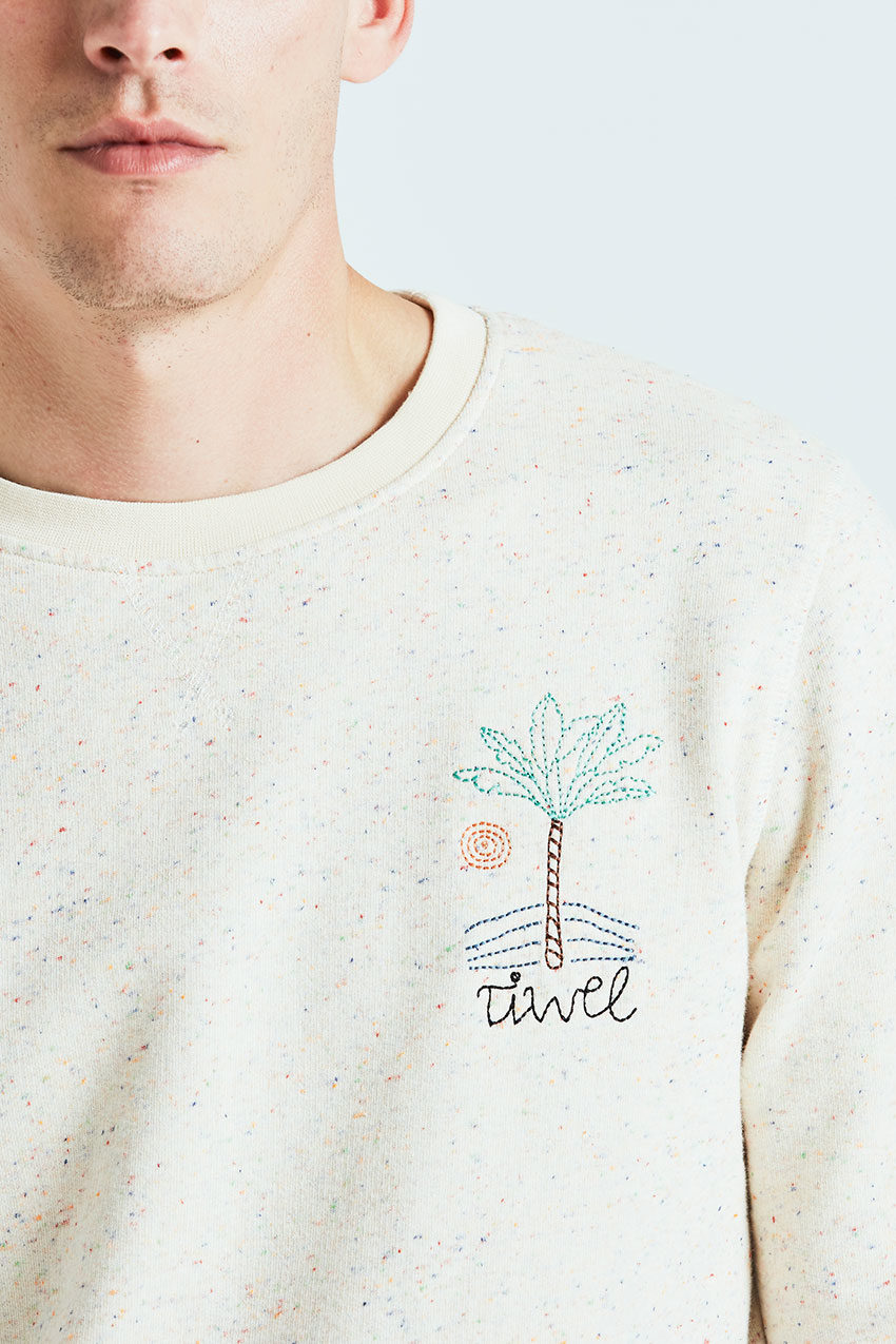 Sudadera Sweat Palm Tiwel off white 02