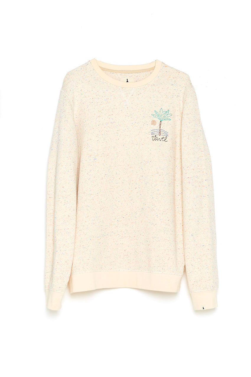 Sudadera Sweat Palm Tiwel off white 01