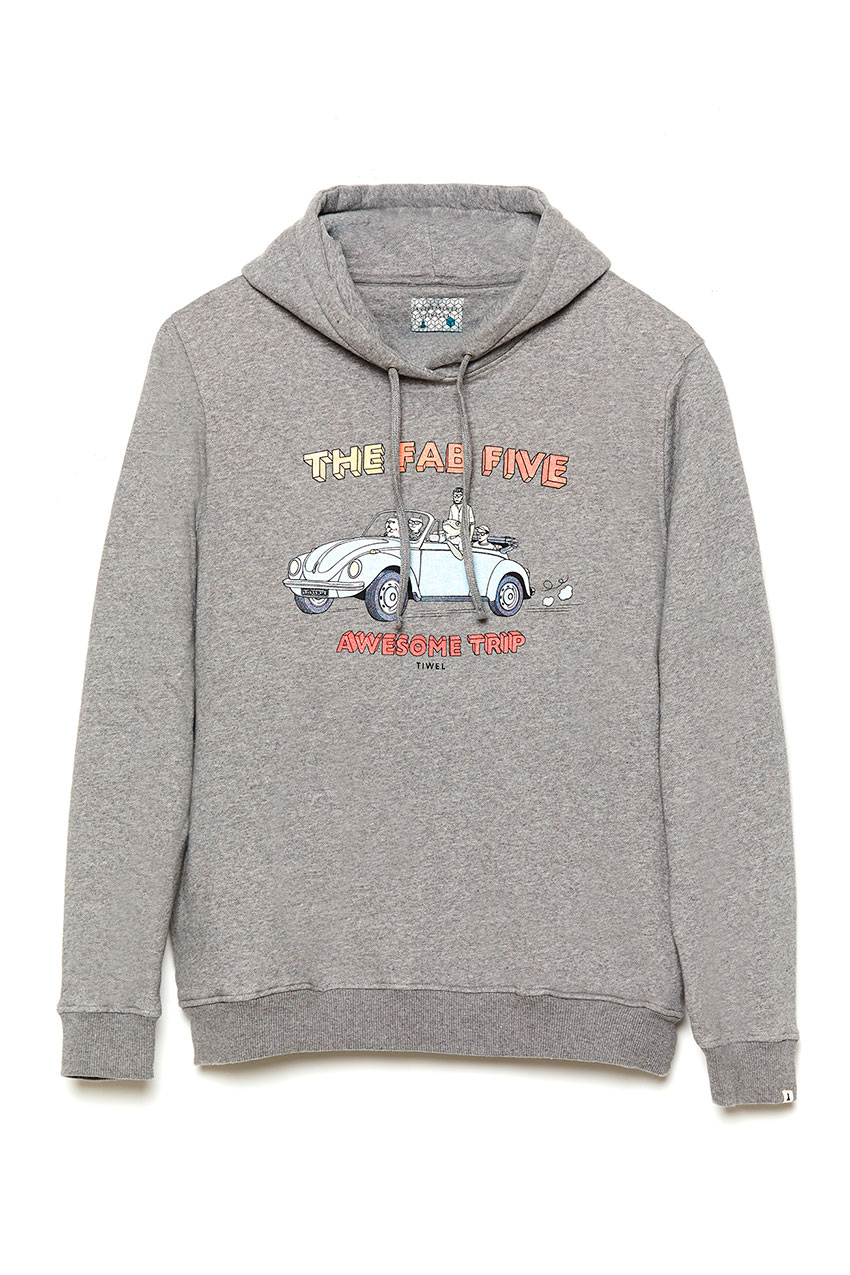 Sudadera Wolks David Sanchez Mid Grey Melange 01