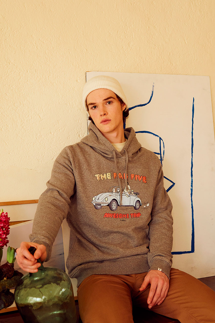 Sudadera Wolks David Sanchez Mid Grey Melange 08
