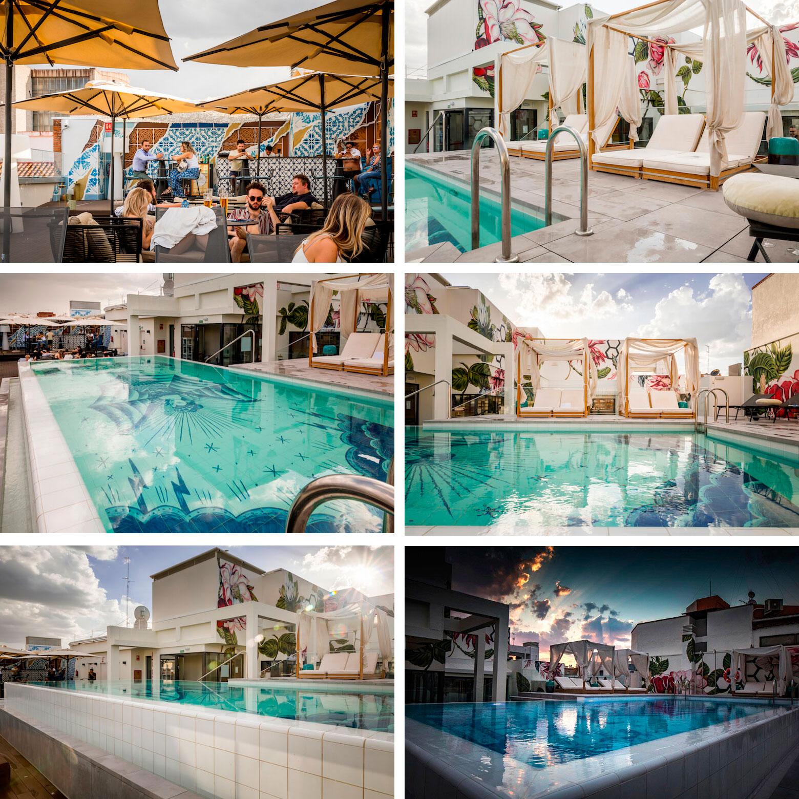TERRAZA NYX piscina del Hotel azotea