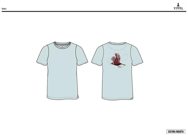 Taquen camiseta pajaro Tiwel By Cultura Inquieta