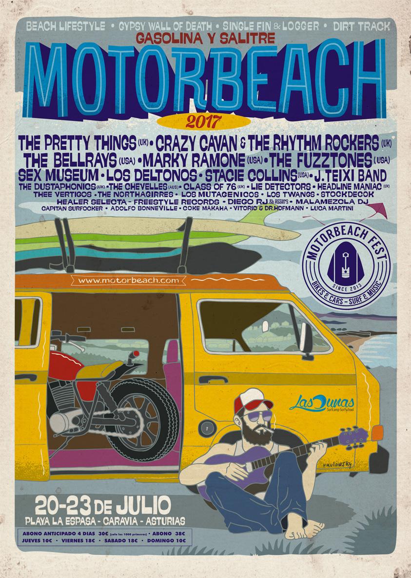 cartel motorbeach asturias