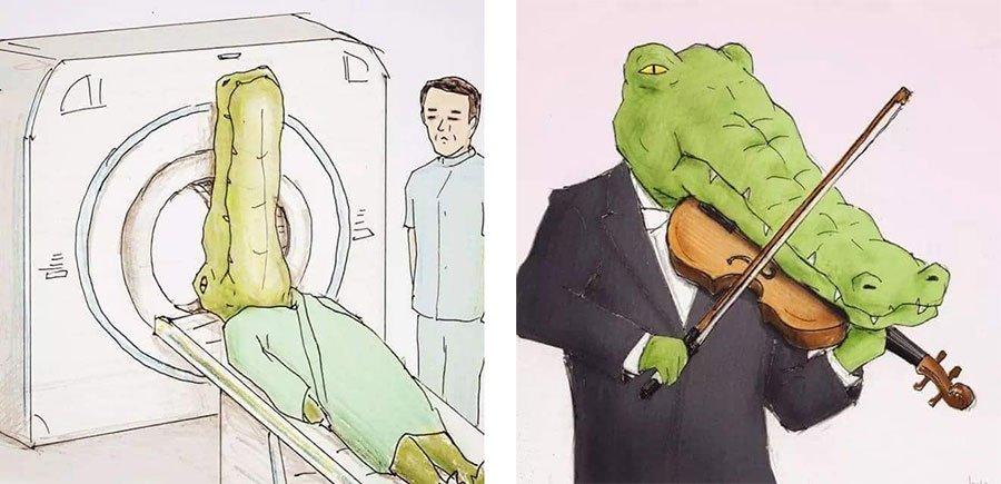 cocodrilo-Keigo-japones-ilustracion-humor-dibujo-01