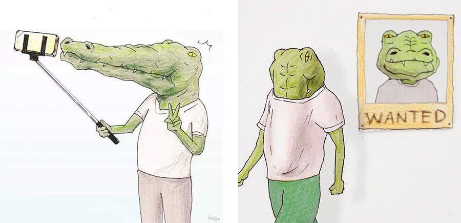 cocodrilo-Keigo-japones-ilustracion-humor-dibujo-07