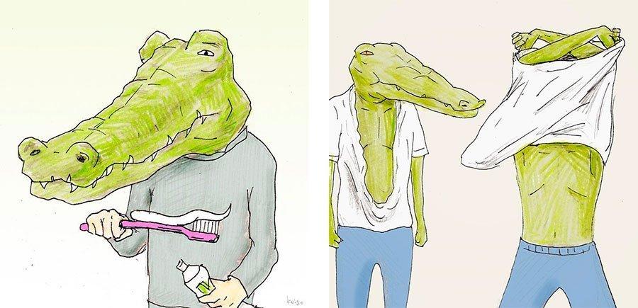 cocodrilo-Keigo-japones-ilustracion-humor-dibujo-11