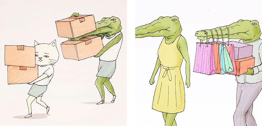 cocodrilo-Keigo-japones-ilustracion-humor-dibujo-12