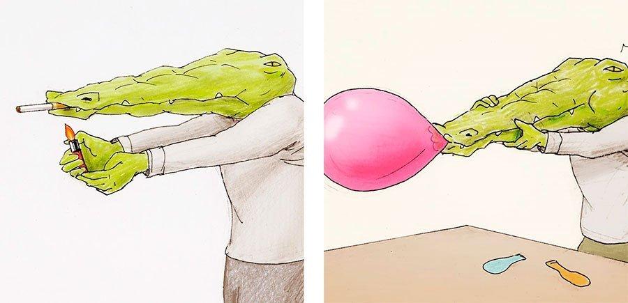 cocodrilo-Keigo-japones-ilustracion-humor-dibujo-13