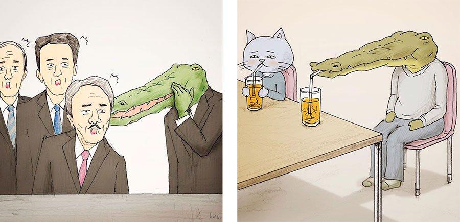 cocodrilo-Keigo-japones-ilustracion-humor-dibujo-16