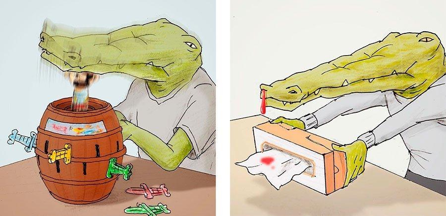 cocodrilo-Keigo-japones-ilustracion-humor-dibujo-17