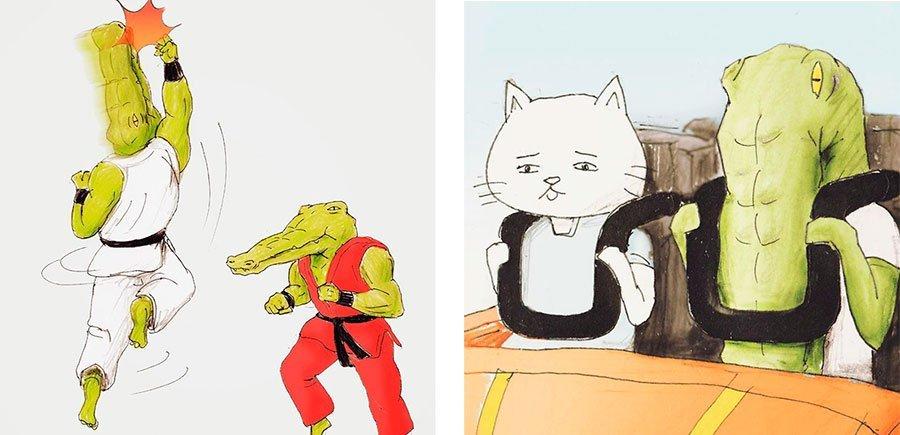 cocodrilo-Keigo-japones-ilustracion-humor-dibujo-21