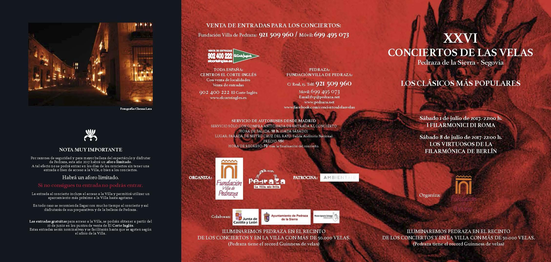 concierto de las velas pedraza 2017