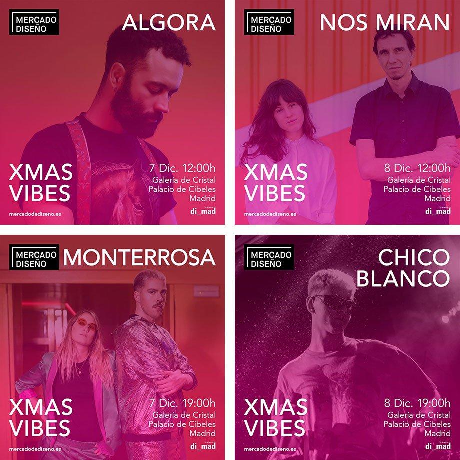 conciertos mercado del diseño xmas vibes 2019