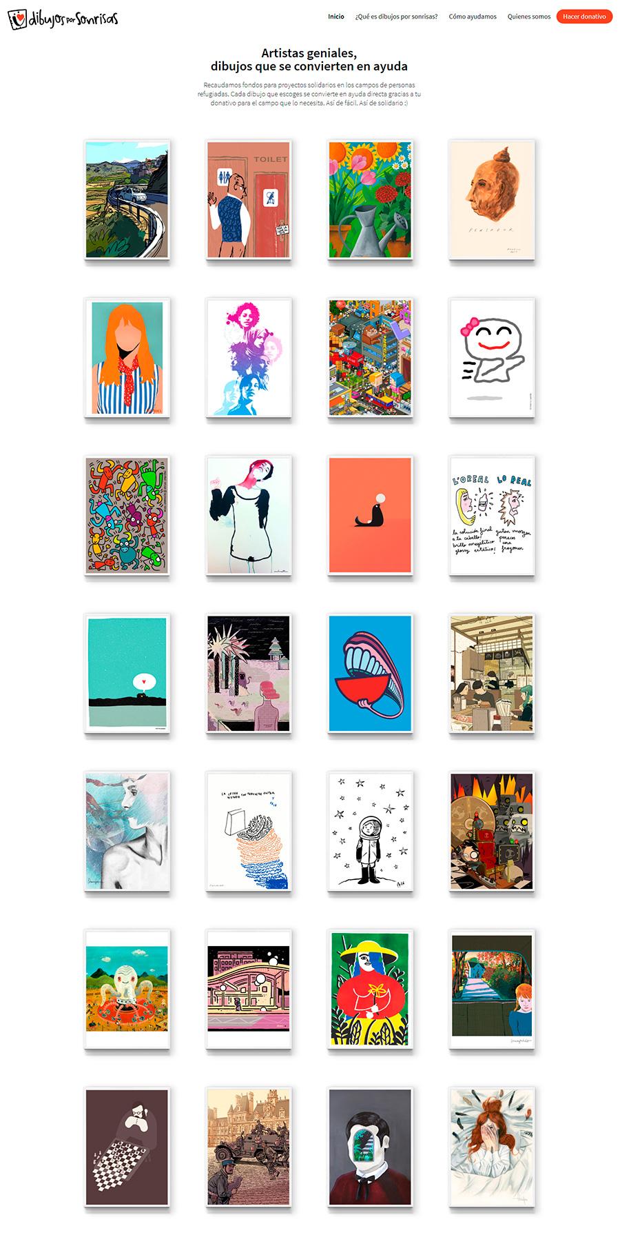 dibujos por sonrisas artistas