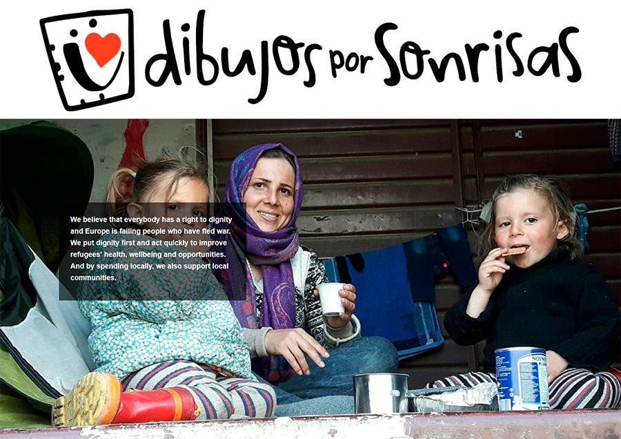 dibujos por sonrisas refugiados