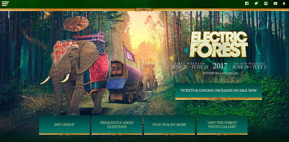 electric forest festival official