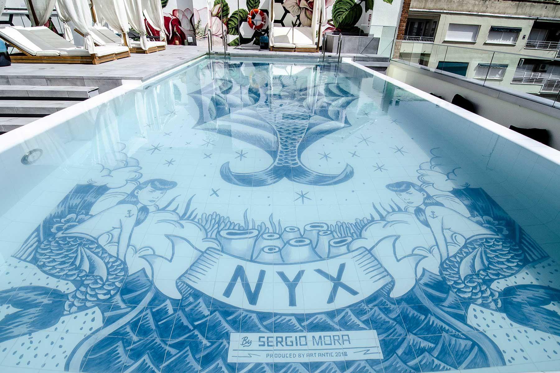 piscina roodtop nyx hotel madrid