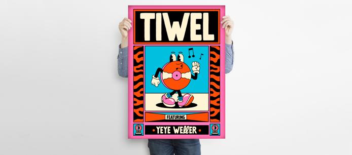 yeye weller poster tiwel artist